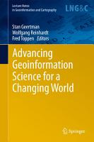 Advancing Geoinformation Science for a Changing World PDF