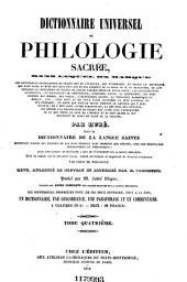 Encyclopédie théologique: ou Série de dictionnaires sur toutes les parties de la science religieuse, Volume7,Partie2