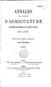 Annales de la Société d'agriculture, sciences et industrie de Lyon