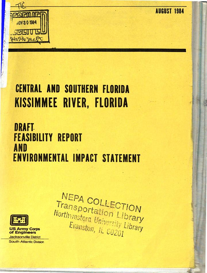 Kissimmee River, Central and South Florida, Feasibility Report, Draft