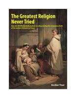 The Greatest Religion Never Tried PDF