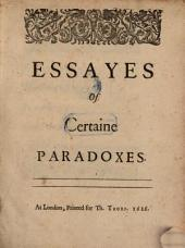 Essays of Certaine Paradoxes