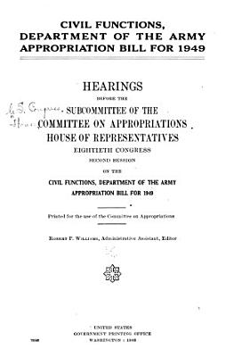 Civil Functions  Department of the Army Appropriation Bill  1949 PDF