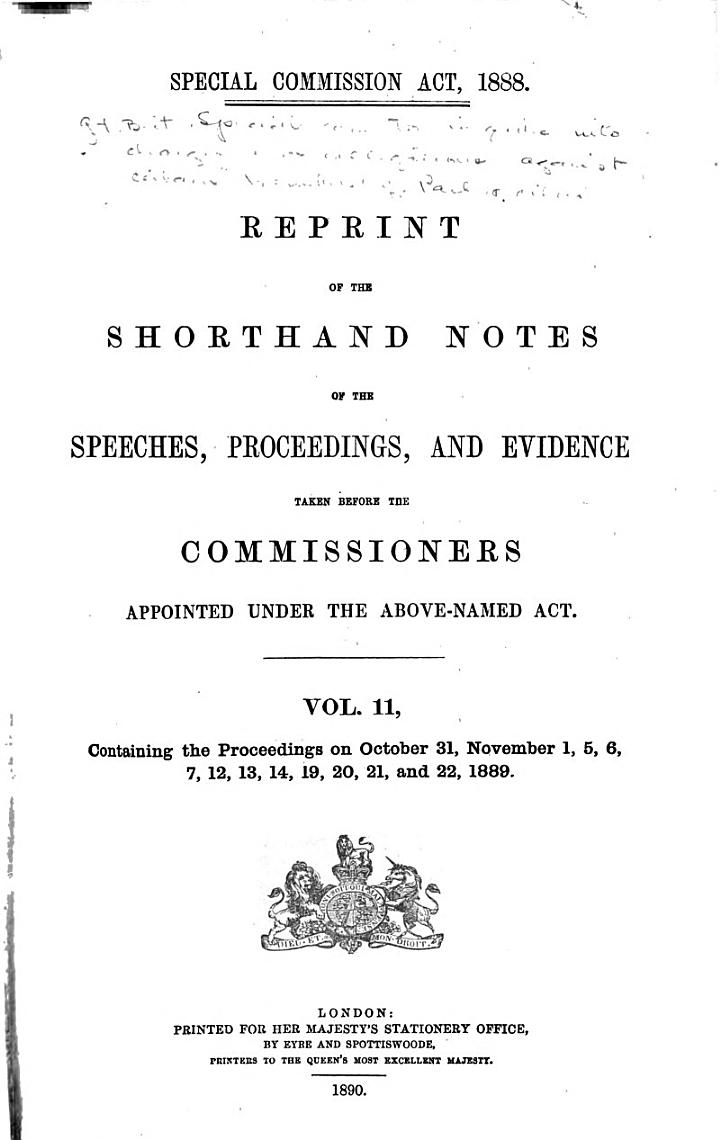 Special Commission Act, 1888