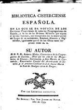 Biblioteca Cisterciense Española ...