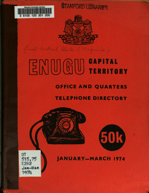 Enugu Capital Territory, Office and Quarters Telephone Directory