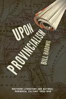 Upon Provincialism PDF
