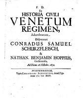 Venetum regimen, resp. Nathan: Benjamin Hoppio. - Wittenbergae, Schrödter 1694