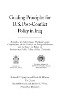 Guiding Principles for U  S  Post Conflict Policy in Iraq PDF