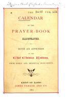The Calendar of the Prayer Book  Illustrated  Etc PDF