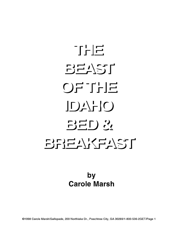 The Beast of the Idaho Bed and Breakfast