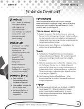 Writing Lesson Level 5--Sentence Inventors