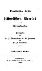 Vaterländisches Archiv des Historischen Vereins für Niedersachsen: 1841