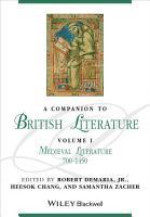 A Companion to British Literature  Volume 1 PDF