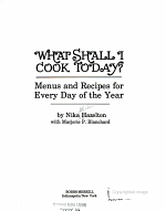 What Shall I Cook Today  PDF