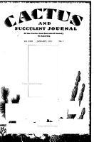 Cactus and Succulent Journal PDF