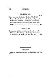 Memoir of the life and character of the Right Hon. Edmund Burke: with specimens of his poetry and letters, and an estimate of his genius and talents, compared with those of his great contemporaries