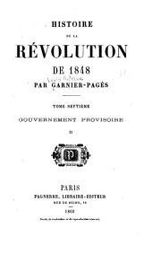 Histoire de la révolution de 1848: Gouvernement provisoire