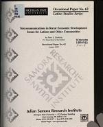 Telecommunications in Rural Economic Development PDF