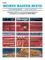 Belwin Master Duets - Saxophone, Advanced, Volume 1