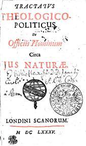 TRACTATVS THEOLOGICO-POLITICUS De Officiis Hominum Circa JUS NATURAE