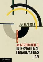 An Introduction to International Organizations Law PDF