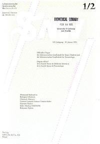Schweizerische medizinische Wochenschrift PDF