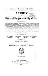 Archiv für Dermatologie und Syphilis: Band 36
