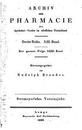 Archiv der Pharmazie und Berichte der Deutschen Pharmazeutischen Gesellschaft: Band 63