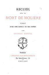Recueil sur la mort de Molière: Volume14