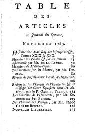 Journal des sçavans: 1765, 13/14. Nov./Déc.