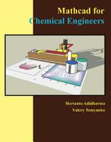 Mathcad for Chemical Engineers PDF
