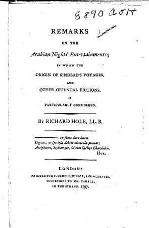 Remarks on the Arabian Nights Entertainments PDF