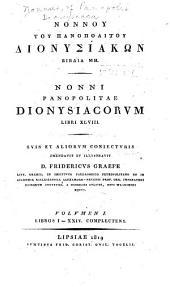Nonnou tou Panopolitou Dionysiakōn biblia 48: Volume 1