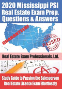 2020 Mississippi PSI Real Estate Exam Prep Questions and Answers