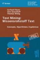 Text Mining  Wissensrohstoff Text PDF