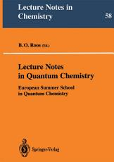 Lecture Notes in Quantum Chemistry PDF