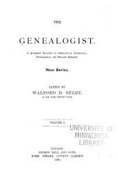 Genealogist: Volume 1