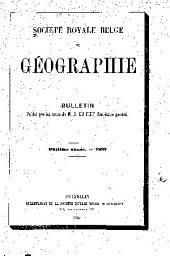 Bulletin de la Société royale belge de géographie: Volume11