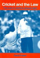 Cricket and the Law PDF