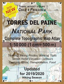 Updated Torres Del Paine National Park Complete Topographic Map Atlas 1