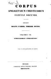 Athenagorae philosophi Atheniensis Opera