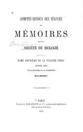 Comptes rendus des séances de la Société de biologie et de ses filiales: Volume27