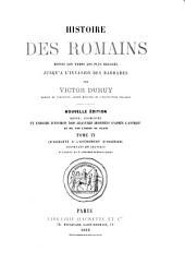 Histoire des Romains: depuis les temps les plus reculés jusqu'à l'invasion des barbares