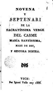 Novena y septenari de la Sacratíssima Verge del Carme Maria Santissima Mare de Deu. y Senyora Nostra