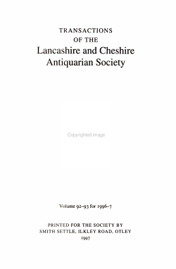 Transactions of the Lancashire and Cheshire Antiquarian Society PDF