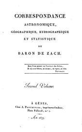 Correspondance astronomique, géographique, hydrographique et statistique