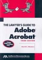 The Lawyer s Guide to Adobe Acrobat PDF