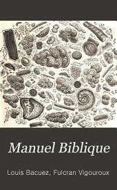 Manuel biblique: Ancien Testament, par F. Vigouroux