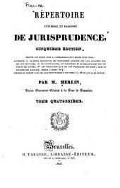 Répertoire universel et raisonné de jurisprudence: Volume14